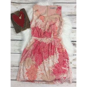 Loft Spring Perfect Floral Pink Dress